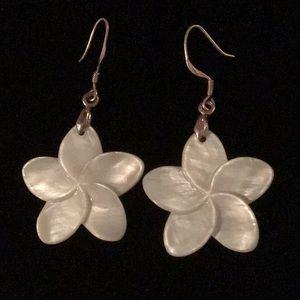 Jewelry - Flowers 🌸Carved Earrings & Sterling Pendant